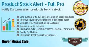 Product Stock Notification Alert - Full Pro